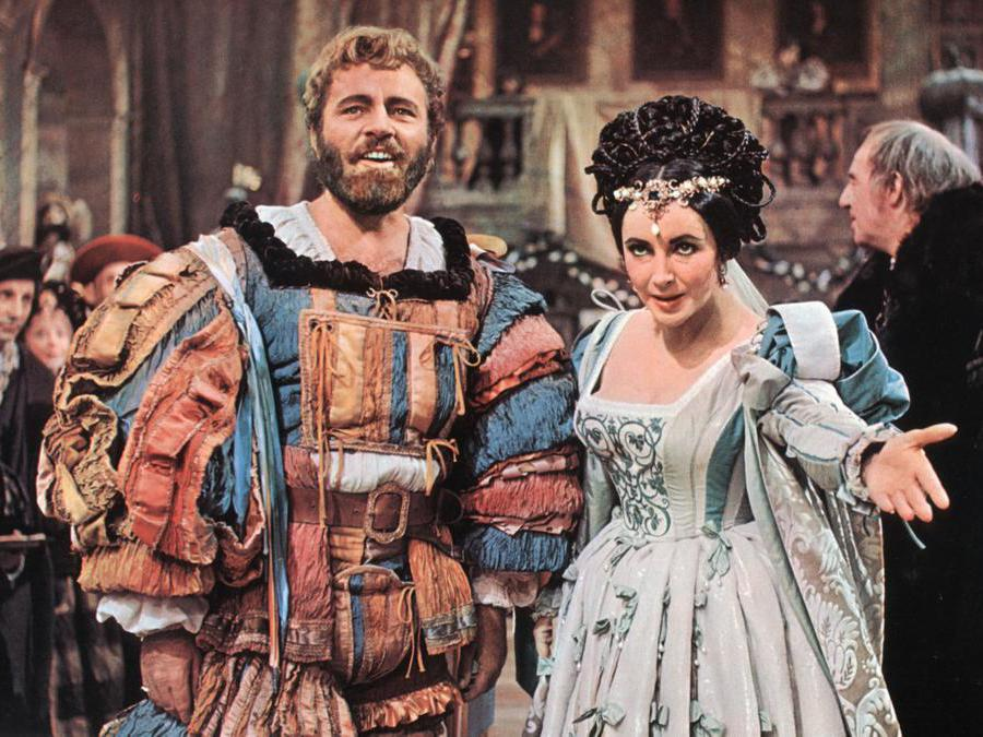 Richard Burton e Elizabeth Taylor in «La bisbetica domata» di  Franco Zeffirelli (Afp)
