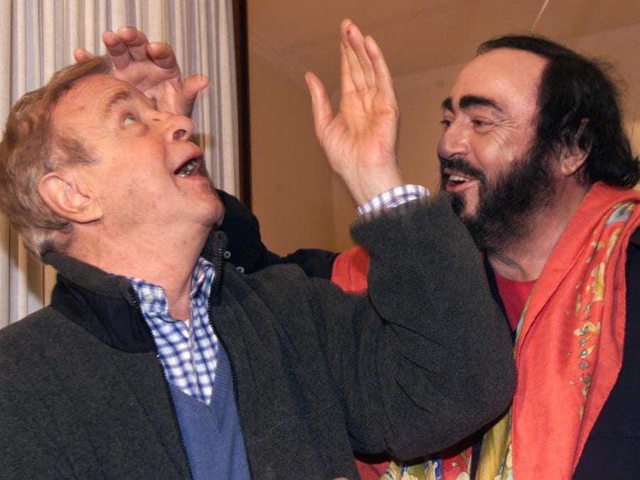 Luciano Pavarotti e  Franco Zeffirelli  (Afp)