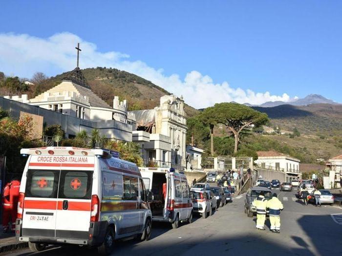 Etna, terremoto e crolli a Catania