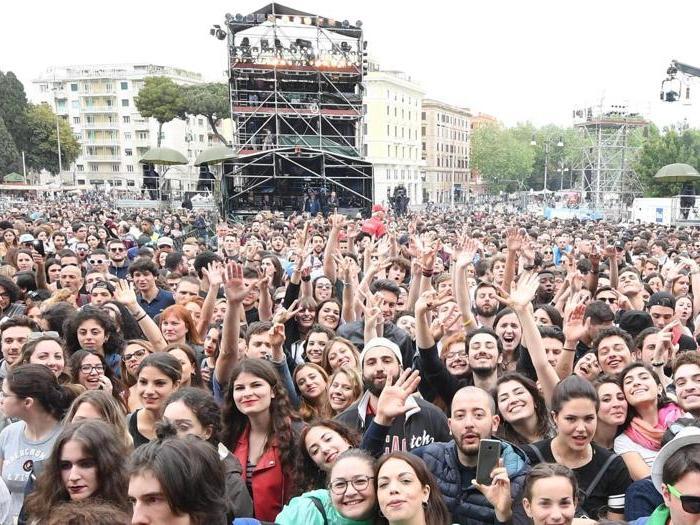 Il concertone del Primo Maggio in piazza San Giovanni, Roma