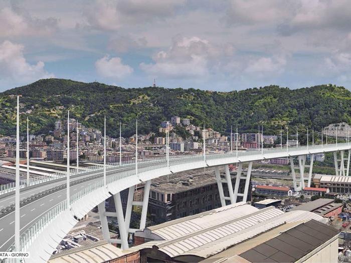 Il progetto di Autostrade per il nuovo ponte di Genova