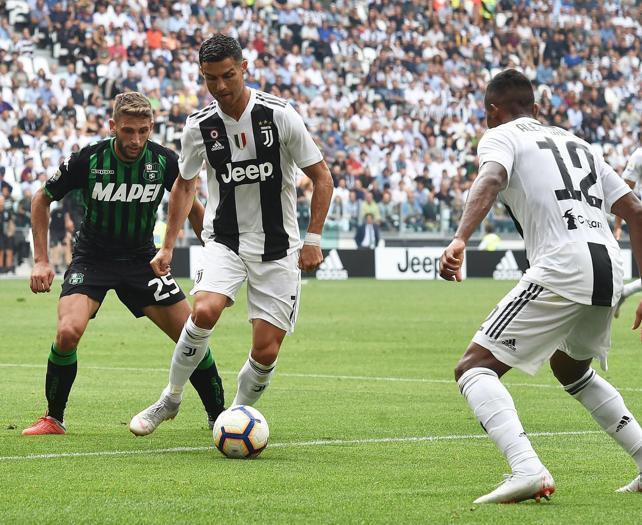 Juventus, Ronaldo si sblocca: doppietta al Sassuolo