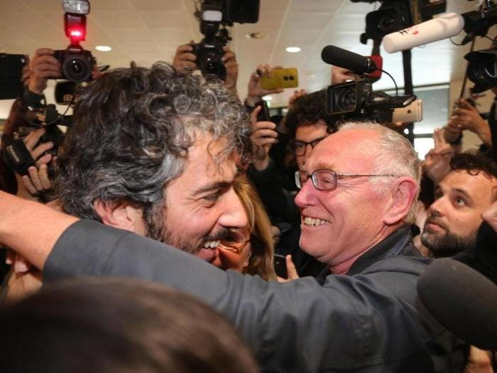 L'arrivo di Gabriele Del Grande  in Italia