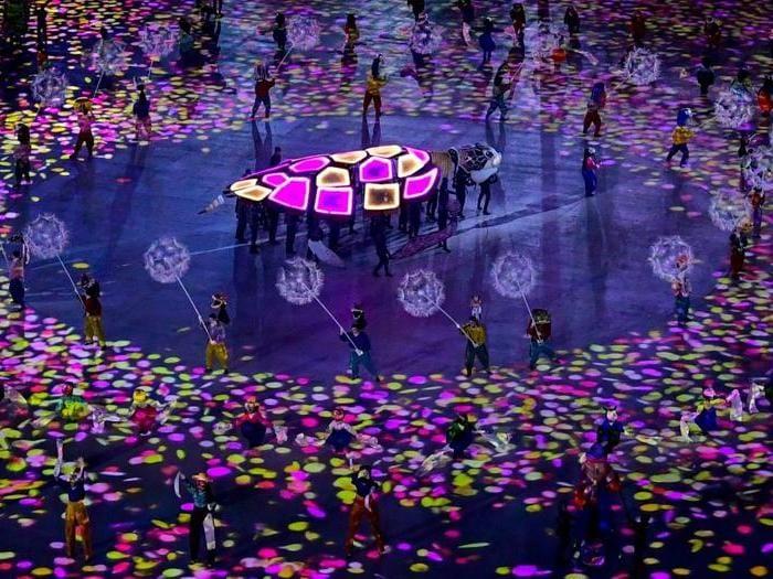La cerimonia  di chiusura dei giochi olimpici di Pyeongchang