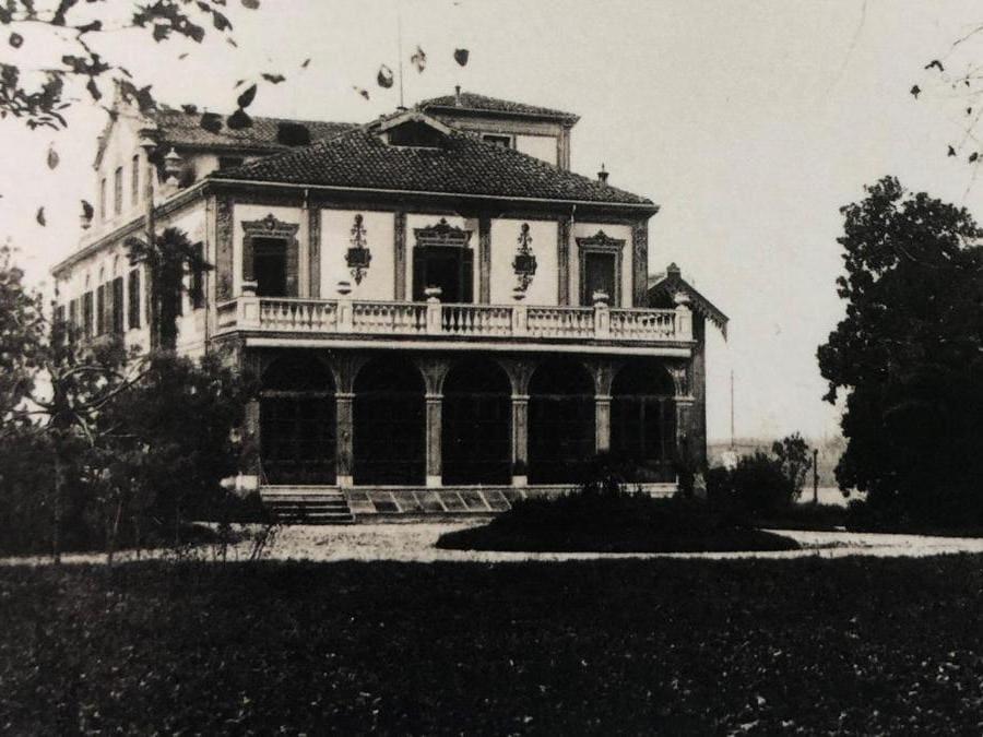 Villa Giusti dell'armistizio presso Padova in una foto d'epoca (collezione Lanfranchi Giusti)