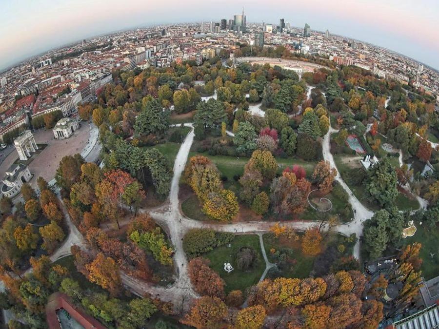 Parco Sempione e lo skyline