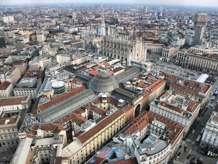 Veduta verso il Duomo e la Galleria