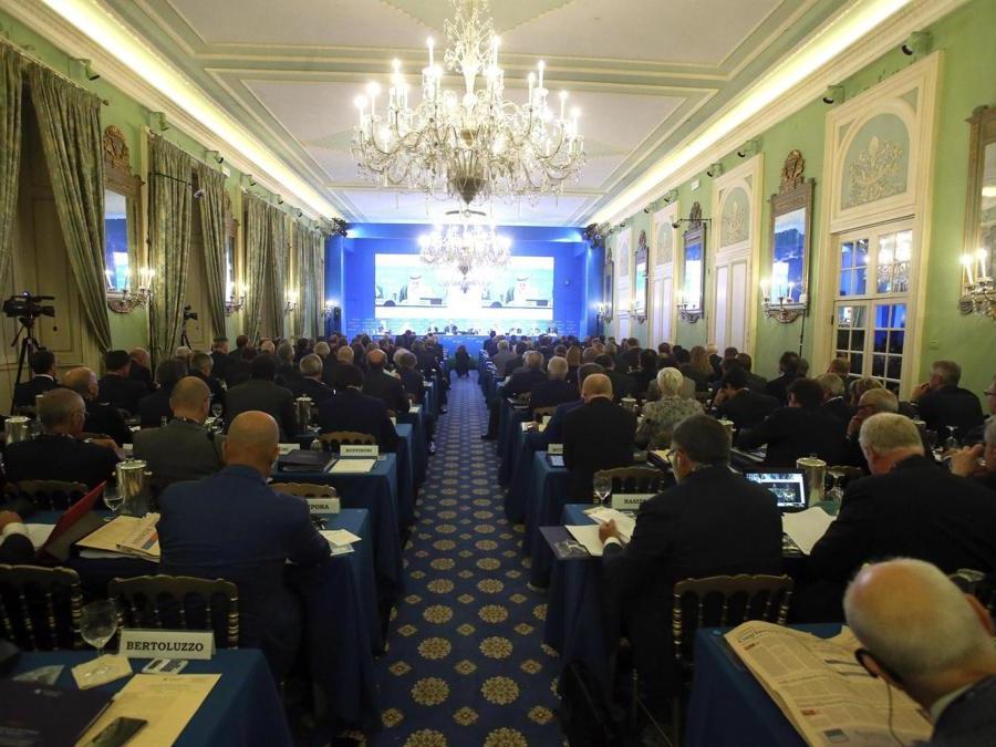 La sala in cui è in corso di svolgimento il forum  ANSA / MATTEO BAZZI