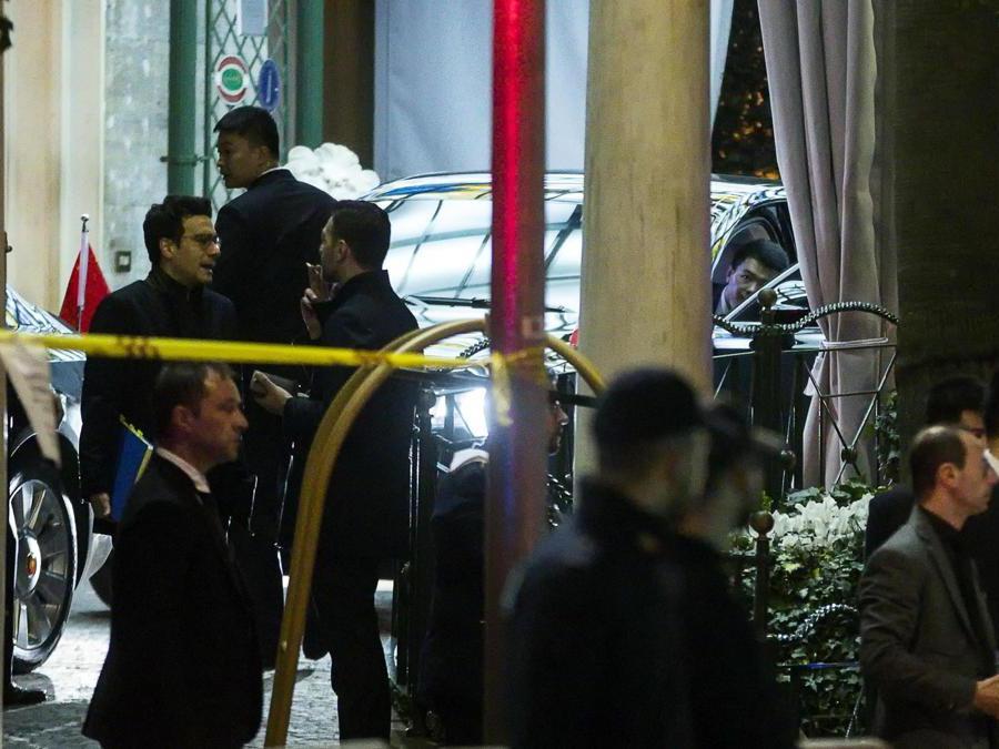 Il presidente della Repubblica Popolare Cinese Xi Jinping arriva all'hotel Parco dei Principi, Roma, 21 marzo 2019. (Ansa / Angelo Carconi)