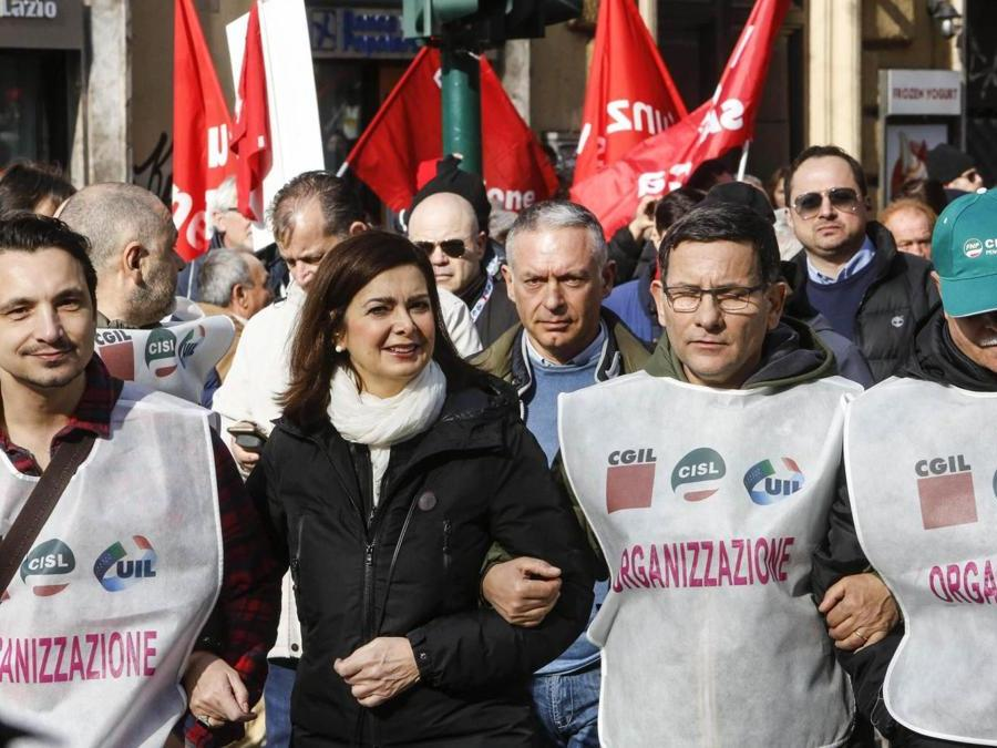 Laura Boldrini, Futuro al Lavoro indetta da Cgil, Cisl e Uil.