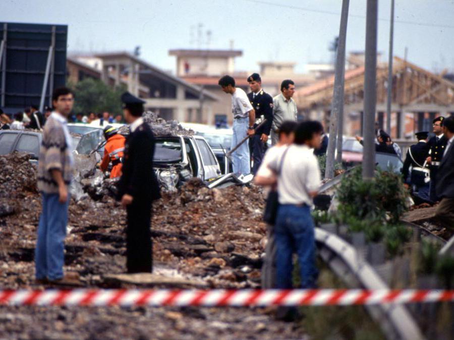 23 maggio1992 - Strage di Capaci. (Agf)