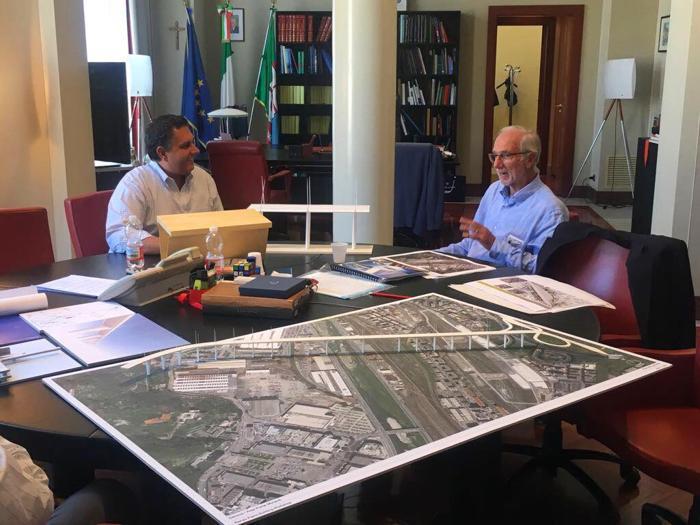 Ponte Morandi, ecco il  plastico di  Renzo Piano presentato in Regione Liguria