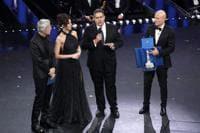 Claudio Baglioni , Virginia Raffaele , Il presidente della Regione Liguria Toti Giovanni e Claudio Bisio - Foto IPP/Andrea Oldani