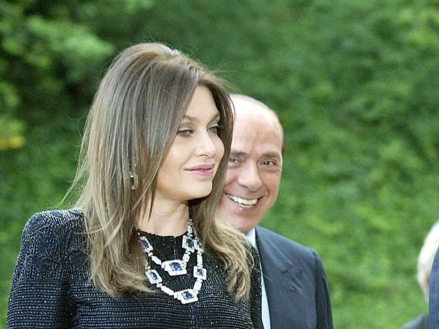 2009 - Roma,  Villa Madama per il pranzo di gala con il presidente degli Stati Uniti George W. Bush e la moglie Laura (DANILO SCHIAVELLA / ANSA /coc)