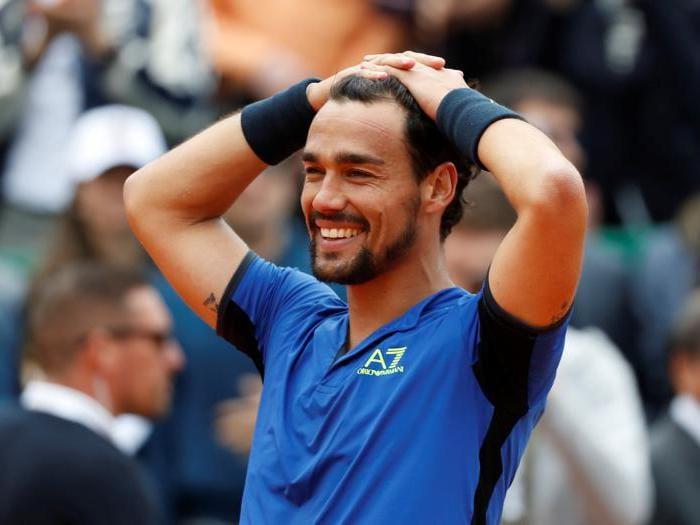 Tennis, le immagini dell'impresa di Fognini a Montecarlo