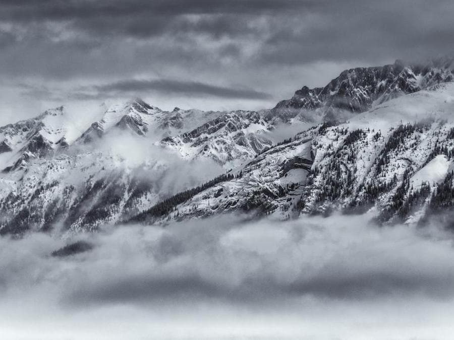 """The Maligne Range from Jasper, Canada"" di David Rippin."