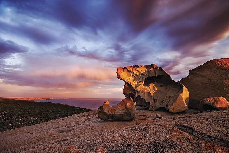 Veduta delle Remarkable Rocks, formazioni rocciose di Kangaroo Island (Credit: Julie Fletcher)