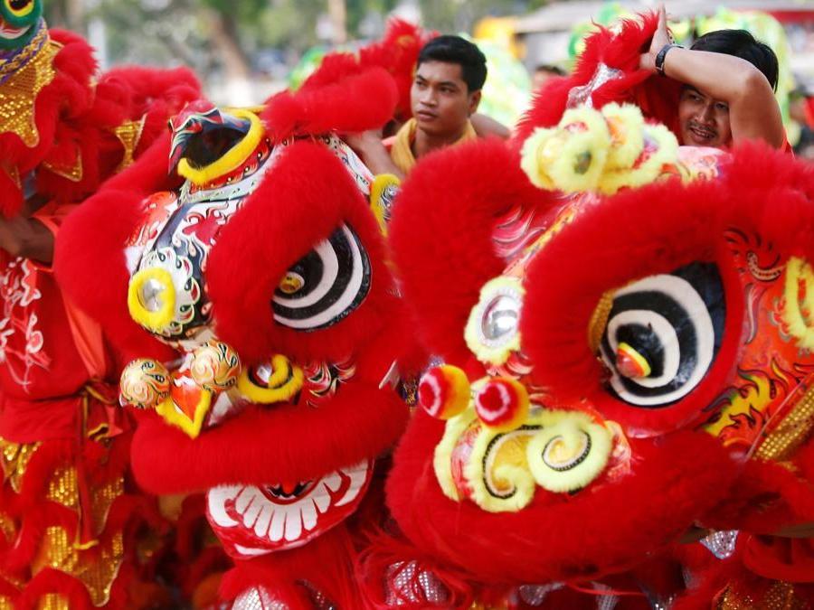 Comunità cinese a Phnom Penh, Cambogia (REUTERS/Samrang Pring)