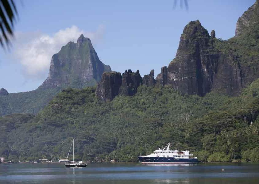 La natura si immerge nel mare a Moorea, nota anche come l'isola degli artisti (PH Tahiti Tourisme)
