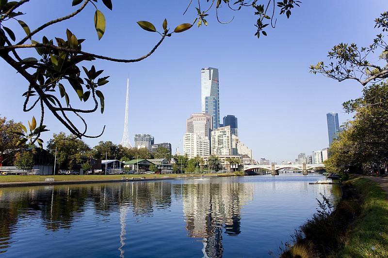 L'Eureka Tower, il grattacielopiù alto d'Australiacon i suoi 91 piani a sud del fiume Yarra ( (credit Tourism Victoria))
