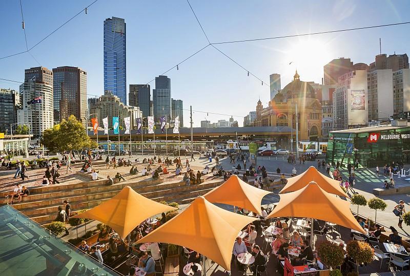 Ancora Fed Square, cuore di Melbourne (credit Tourism Victoria)