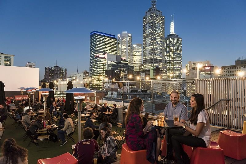 Rooftop bar, Curtin House (credit Tourism Victoria)
