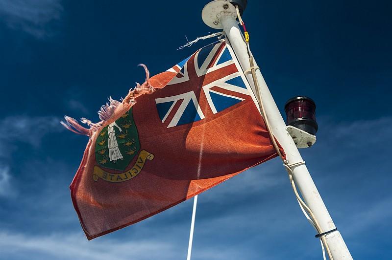 La bandiera della Isole Vergini Britanniche (©Lucio Rossi/bvitourism.it)