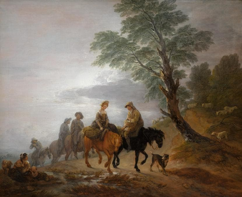 Thomas Gainsborough. Going to Market, Early Morning, oil on canvas, est. £7,000,000-9,000,000