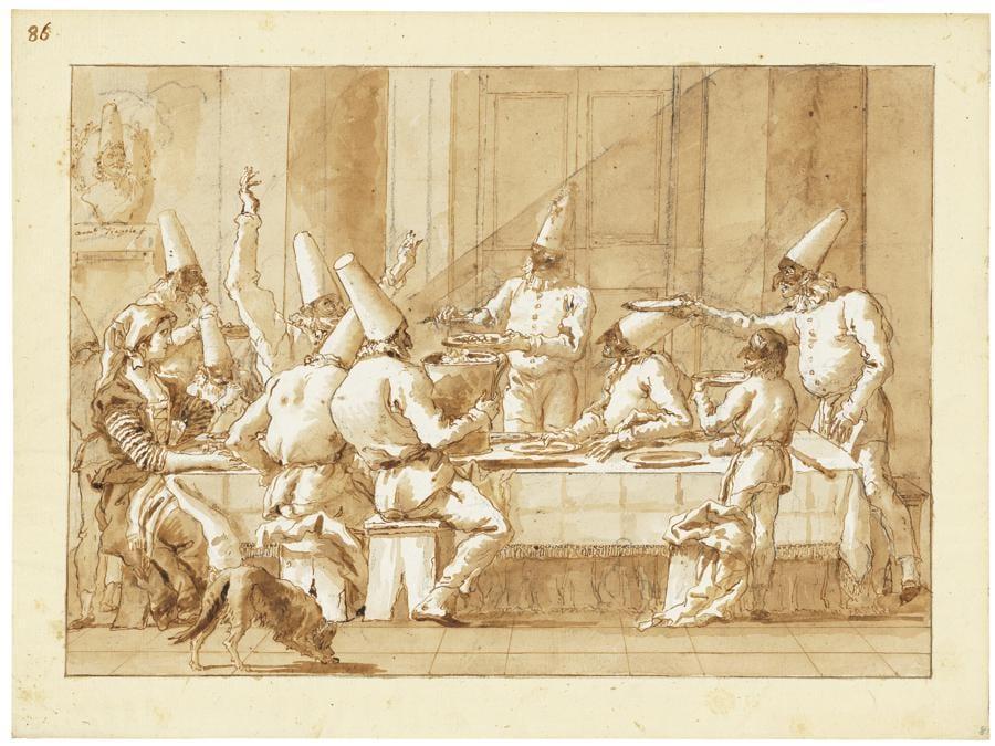 Giovanni Domenico Tiepolo (Venice 1727-1804) - «Pulcinella festival» Stimato  Gbp  300,000 - Gbp 500,000 (Usd 386,400 - Usd 644,000)