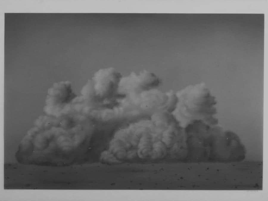 Ali Kazim, Untitled (Storm Series), 2018, dry pigmenti su mylar, 42x32 cm, Courtesy l'artista e Jhavery Contemporary