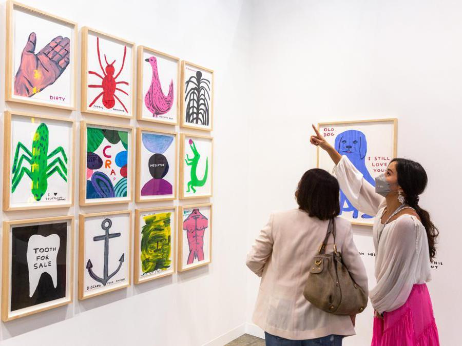 Lo stand della galleria Stephen Friedman ad Art Basel Hong Kong 2021, Courtesy Art Basel