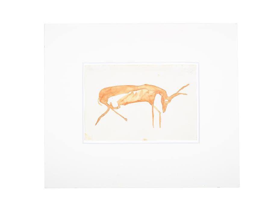 Joseph Beuys. «Hirsch (Stag)», 1956. Per gentile concessione della Galerie Thaddaeus Ropac, Londra, Parigi, Salisburgo (Joseph Beuys Estate / VG-Bildkunst, Bonn, 2020)
