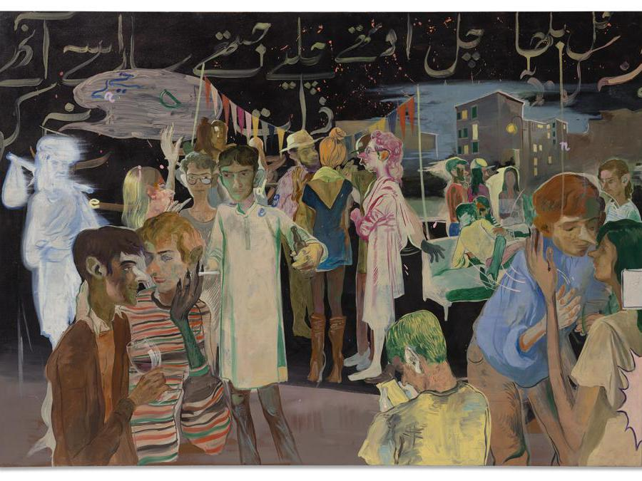 salman_toor_rooftop_party_with_ghosts_1082228.Courtesy Sotheby's
