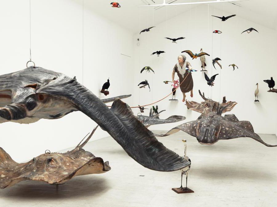 Sun Yuan & Peng Yu  «If I Died » 2013 vetroresina, gel, simulazione di scultura. Per gentile concessione dell'artitsta e della galleria Continua di San Gimignano