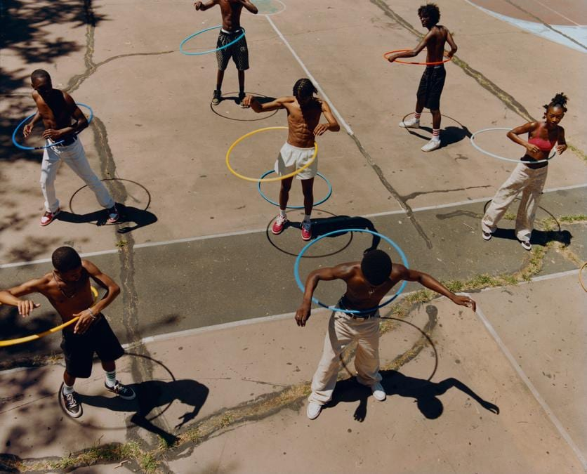 Tyler Mitchell, Untitled (Group Hula Hoop), 2019. © Tyler Mitchell
