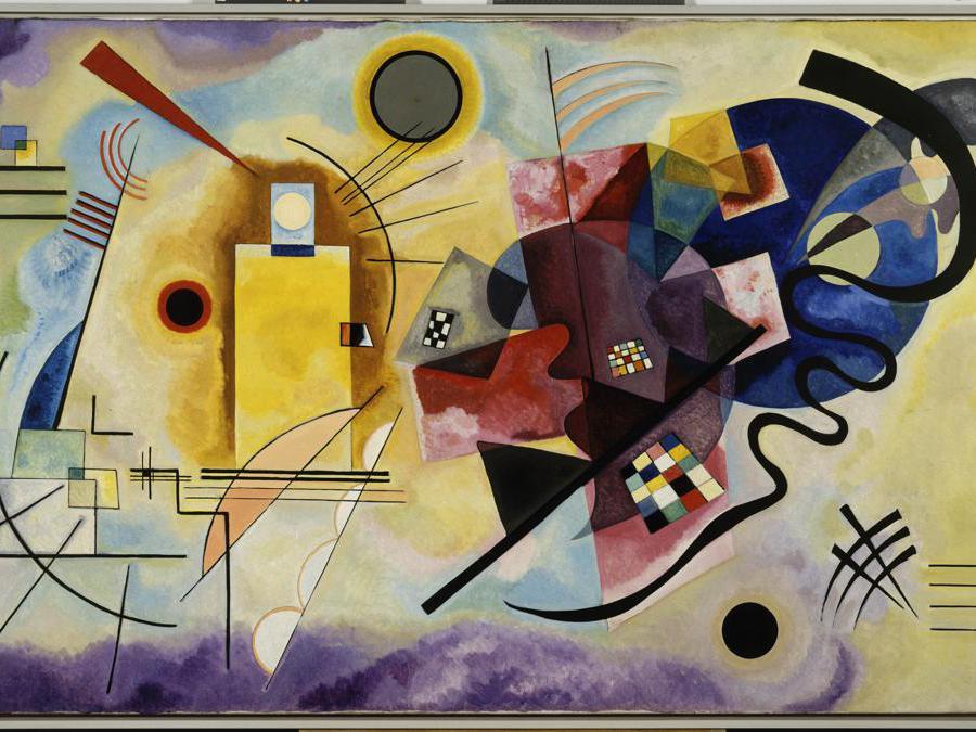 Vassily Kandinsky «Jaune-Rouge-Bleu» 1925