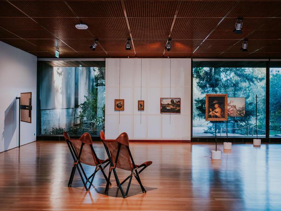 Franco Albini e Franca Helg, Palazzo Bianco e Palazzo Rosso, Genova, 1949-62. Ricostruzione realizzata per Art on Display. 1949-69, presso il Calouste Gulbenkian Museum, Lisbona   (Pedro Pina)