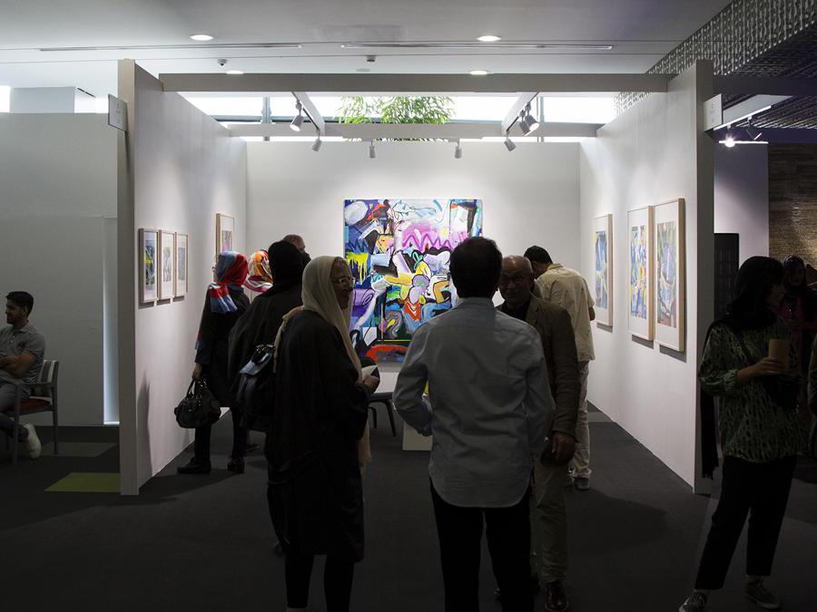 Stand di O Gallery con la mostra di Ali Nassir, Teer Art Fair 2019. Courtesy di Matin Jameie e Teer Art