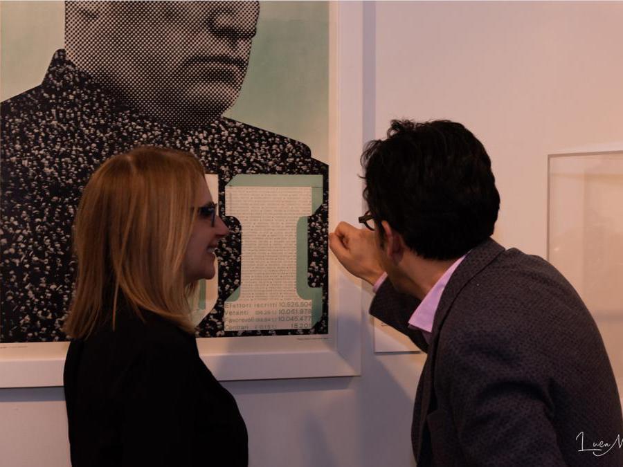 . Immagine della mostra Propaganda organizzata dalla Casa Italiana, foto di Luca Maglia, cortesia della Casa Italiana