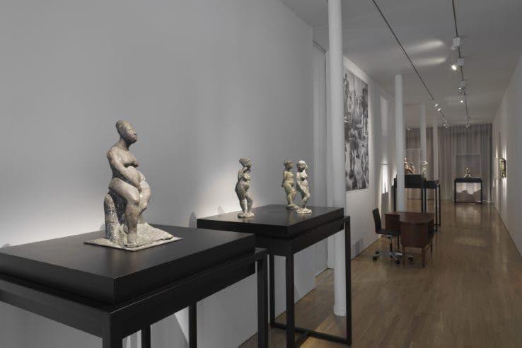 Vista della mostra dedicata a Marino Marini: Arcadian Nudes. foto di Dario Lasagni, cortesia di CIMA