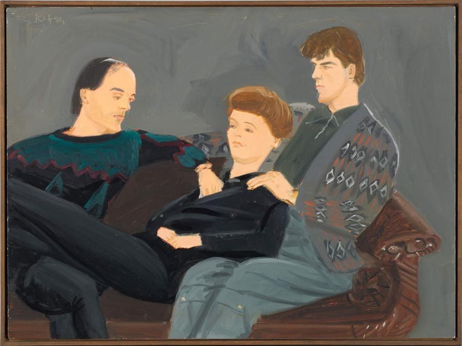 Alex Katz, Studio per trio, stima 60-80.000 euro, Courtesy Sotheby's