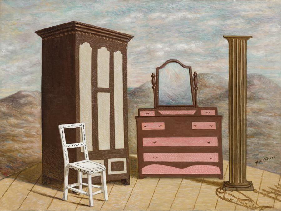 Giorgio De Chirico, Mobili nella valle, stima 300-400.000 euro, Courtesy Sotheby's