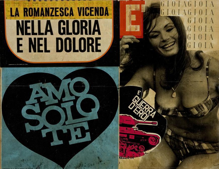 Lucia Marcucci 1965, «È guerra d'eroi» collage
