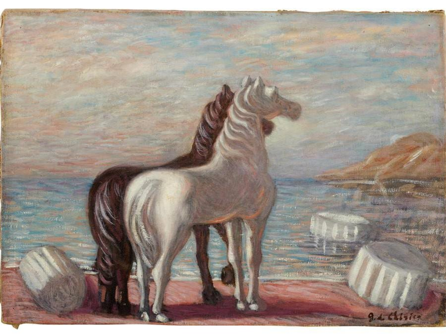Giorgio de Chirico, Due Cavalli,1932-33 (courtesy di Sotheby's)