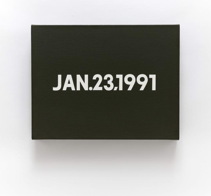 On Kawara, Jan.23,1991, from Today series No. 1, 1991 (courtesy di Sotheby's)
