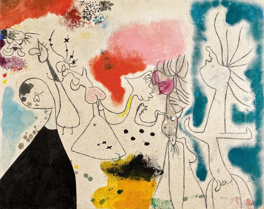 10368 Lot 1019 - Joan Miró, Groupe de personnages