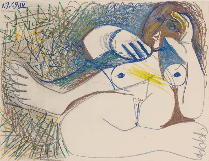 10369 lot 62 Pablo Picasso, Nu couché