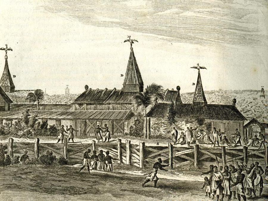View of Benin City as depicted in the 17th century publication by the Dutch writer Olfert Dapper (2020 © Trustees of the British Museum)
