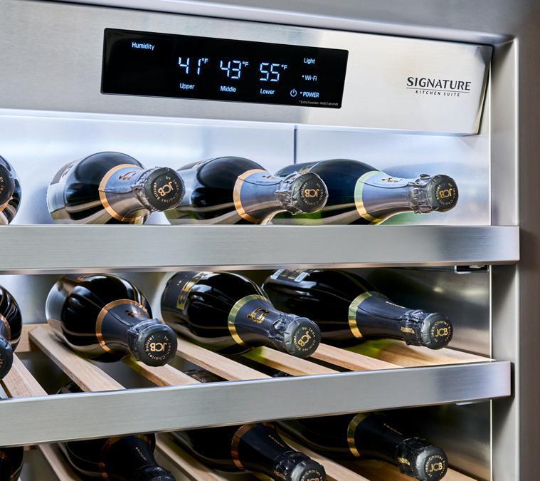 LG-Signature,  cantina   che indica  anchei i cibi da abbinare ai vini