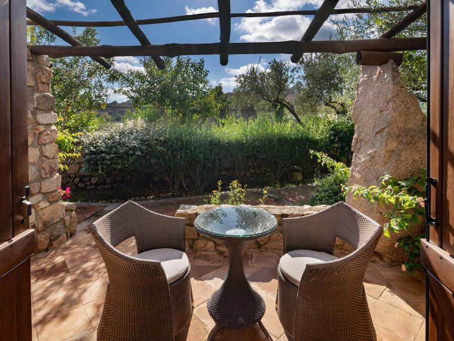 Hotel Pitrizza, terrace garden view